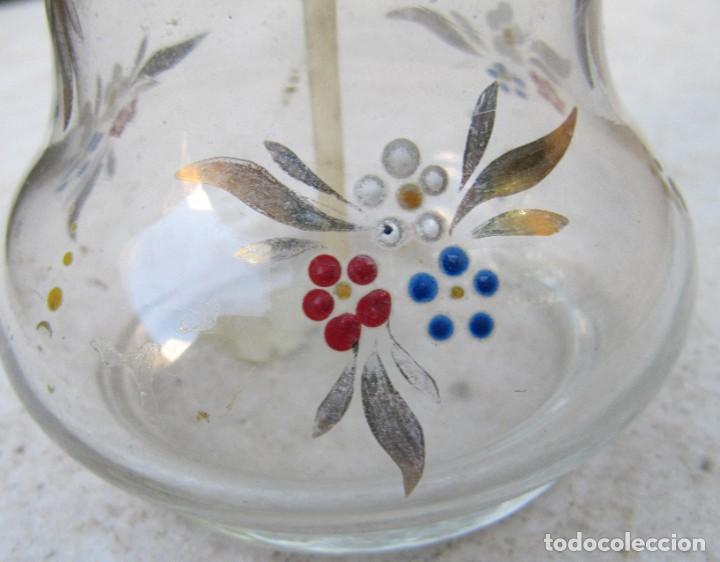 Antigüedades: perfumero de cristal esmaltado probablemente mallorquín - Foto 3 - 223000087