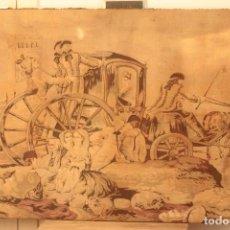 Antigüedades: TAPIZ ANTIGUO CON BASTIDOR. 120X75CM. Lote 223005756