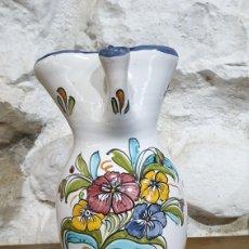 Antigüedades: JARRA CERAMICA TALAVERA EL CARMEN EN PERFECTO ESTADO. Lote 223008538
