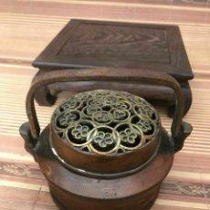 Antigüedades: ANTIGUO INCENSARIO, QUEMADOR DE INCIENSO DE BRONCE JAPONES, JAPON. EPOCA MEIJI. Lote 265884123