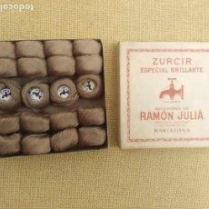 Antigüedades: CAJA ANTIGUA HILO DE ZURCIR SUCESORE DE RAMÓN JULIA. Lote 223038525
