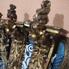 Antigüedades: PAREJA DE MÉNSULAS BARROCAS. Lote 223038883