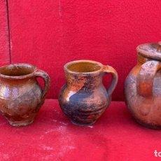 Oggetti Antichi: PUCHEROS ANTIGUOS DISTINTAS MEDIDAS DESDE 15 A 7 CMS.. Lote 223042686