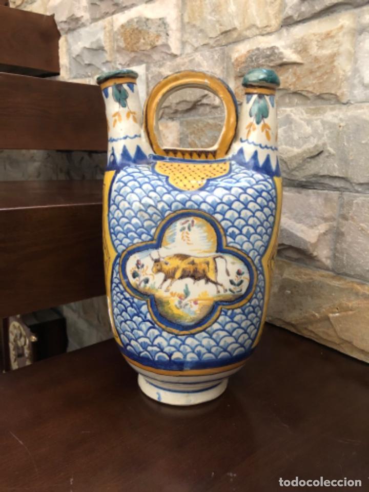 ANTIGUO BOTIJO O BUCARO EN CERÁMICA DE TRIANA (SEVILLA ) (Antigüedades - Porcelanas y Cerámicas - Triana)