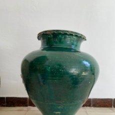 Antigüedades: EXCEPCIONAL TINAJA DE TRIANA S.XVIII 58 CM. Lote 223048563