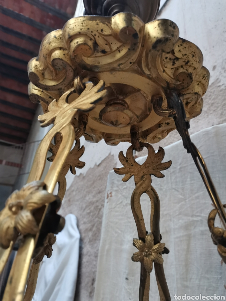 Antigüedades: Lampara Francesa del xix - Foto 8 - 223057881