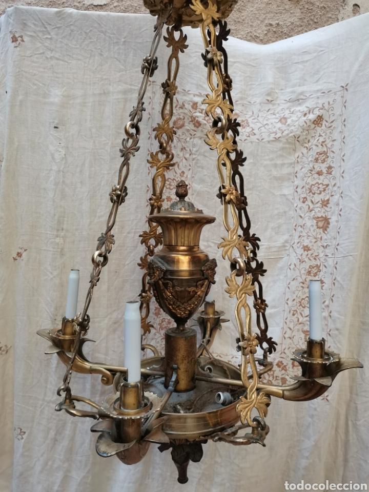 LAMPARA FRANCESA DEL XIX (Antigüedades - Iluminación - Lámparas Antiguas)
