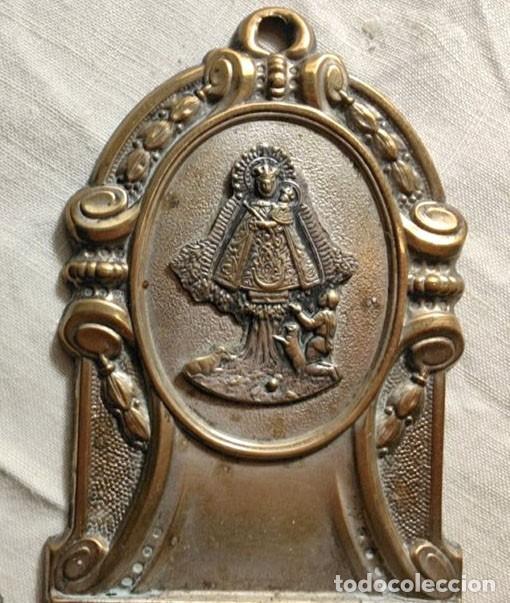 Antigüedades: DOS BENDITERAS. METAL PLATEADO, LATÓN Y PLÁSTICO. ESPAÑA. AÑOS 40 - Foto 3 - 223090530