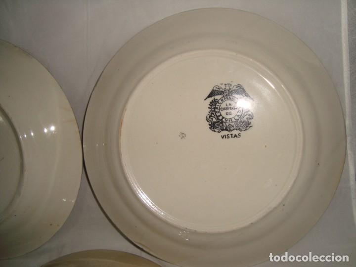 Antigüedades: 5 PLATOS HONDOS SERIE VISTAS NEGRO, 23cm. - Foto 9 - 269965808