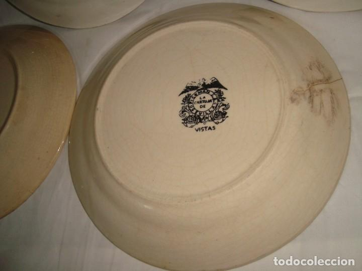Antigüedades: 5 PLATOS HONDOS SERIE VISTAS NEGRO, 23cm. - Foto 11 - 269965808