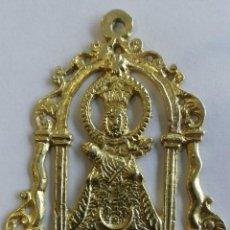Antigüedades: ANTIGUA MEDALLA VIRGEN DE LA FUENCISLA- PLATA DORADA. SIGLO XVII-XVIII. Lote 223114617