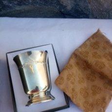 Antigüedades: PRECIOSO VASO DE CHRISTOFLE FRANCE,CON CAJA ORIGINAL Y SACO.. Lote 223160538