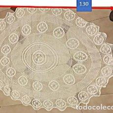 Antigüedades: TAPETE CROCHE PARA MESA DE CAMILLA REDONDA U OVALADA. Lote 223216717