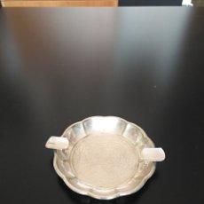 Antigüedades: CENICERO ALPACA. Lote 223218812