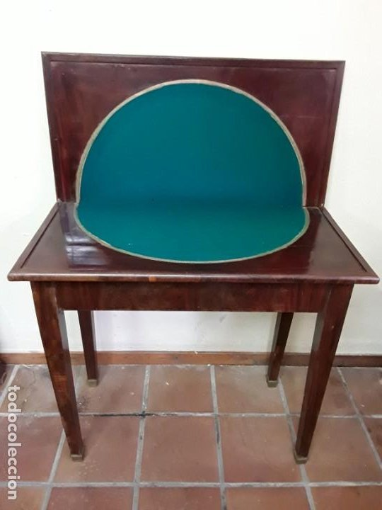 EXTRAORDINARIA MESA DE JUEGO IMPERIO, SIGLO XIX, MADERA DE PALISANDRO Y PIES DE BRONCE (Antigüedades - Muebles Antiguos - Mesas Antiguas)