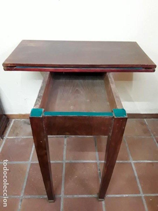 Antigüedades: Extraordinaria mesa de juego Imperio, siglo XIX, madera de palisandro y pies de bronce - Foto 2 - 223242038