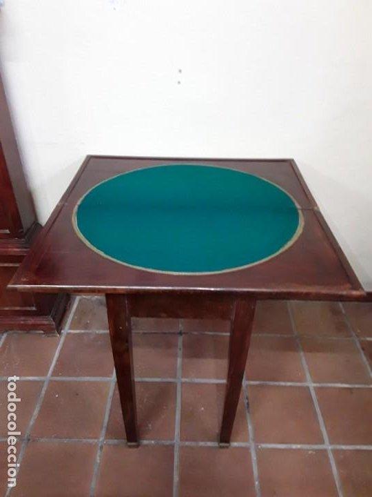 Antigüedades: Extraordinaria mesa de juego Imperio, siglo XIX, madera de palisandro y pies de bronce - Foto 3 - 223242038