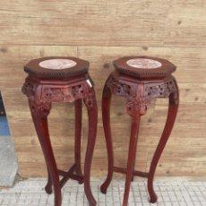 Antigüedades: PAREJAS DE PEANAS ORIENTALES. Lote 223246733