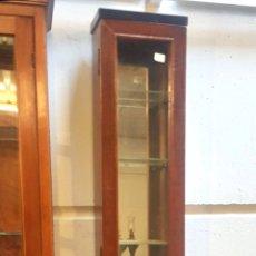 Antigüedades: VITRINA TEKA 5 BALDAS DE CRISTAL. Lote 223267020