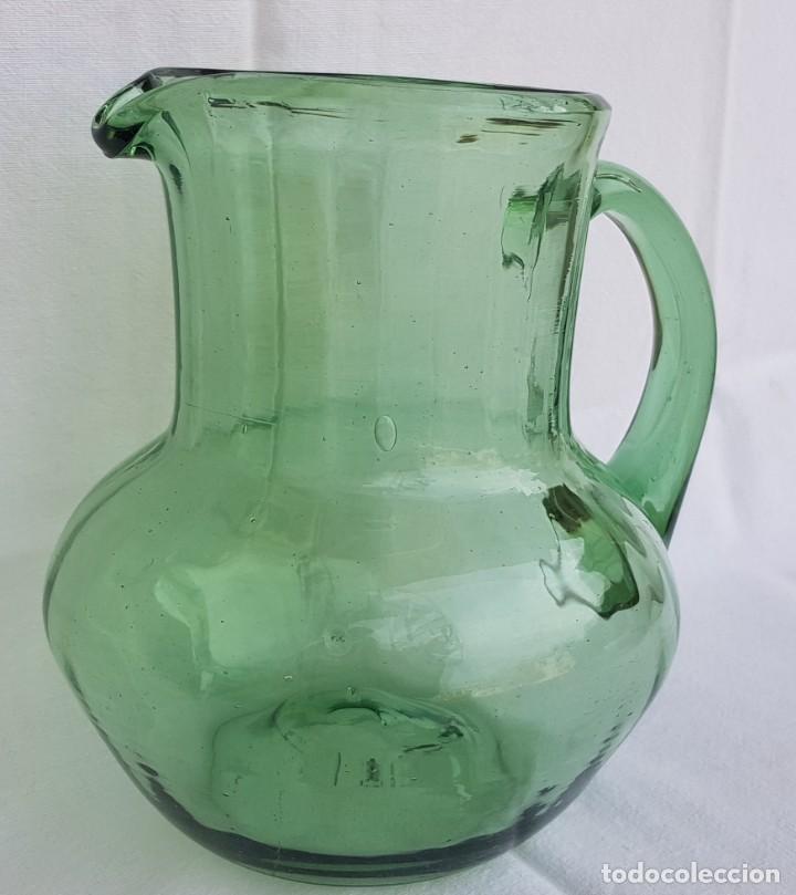 Antigüedades: Jarra vidrio soplado mallorquín. Años 60 (ver detalles fotos) - Foto 2 - 223282606