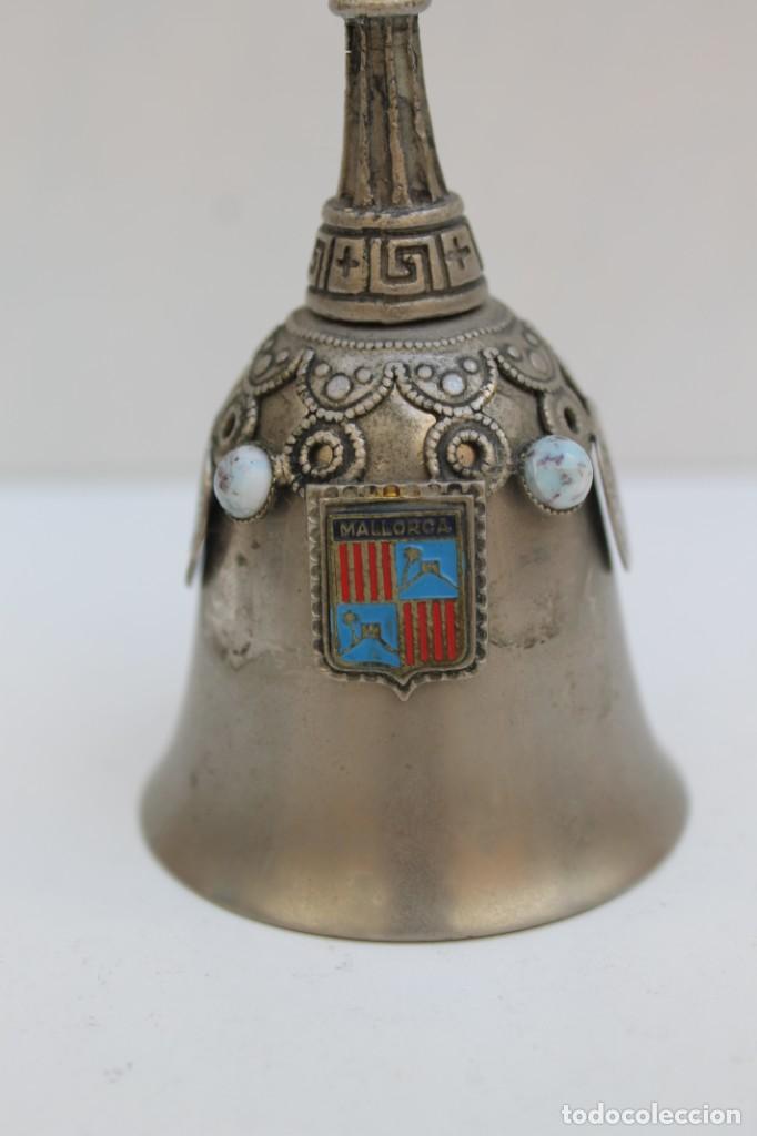 Antigüedades: CAMPANA LLAMADOR RECUERDO DE MALLORCA. - Foto 2 - 223311750