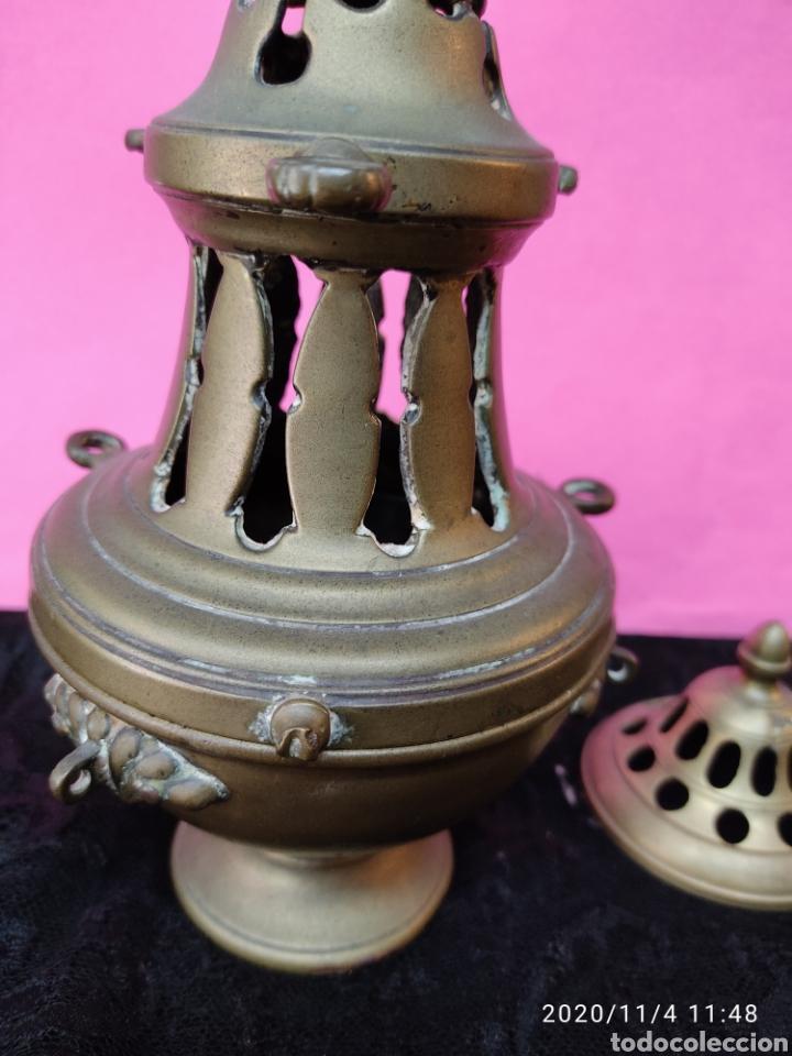 Antigüedades: Incensario bronce S.XIX - Foto 4 - 223324005