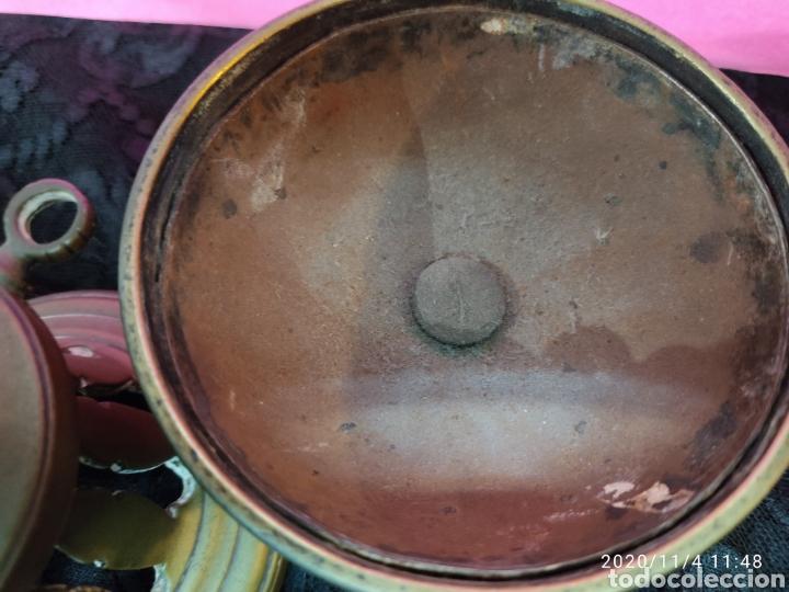 Antigüedades: Incensario bronce S.XIX - Foto 7 - 223324005