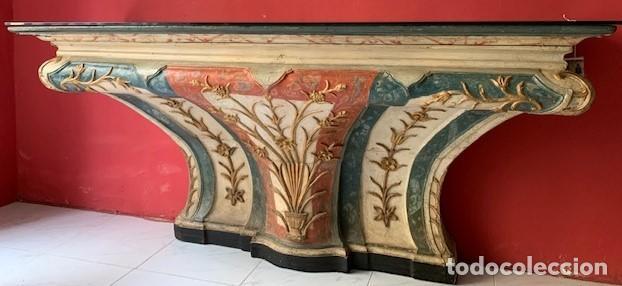 CONSOLA DE MADERA SIGLO XVIII (Antigüedades - Muebles Antiguos - Consolas Antiguas)
