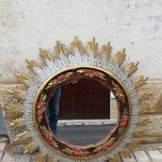 Antigüedades: ESPEJO DE SOL DE MADERA. Lote 223342272