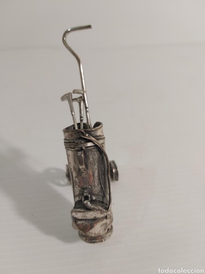 Antigüedades: CARRITO DE GOLF DE PLATA - Foto 2 - 223367593