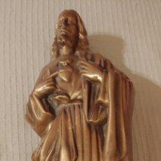 Antigüedades: PLACA DE CRISTO EN BRONCE PARA EXTERIOR. Lote 223382607