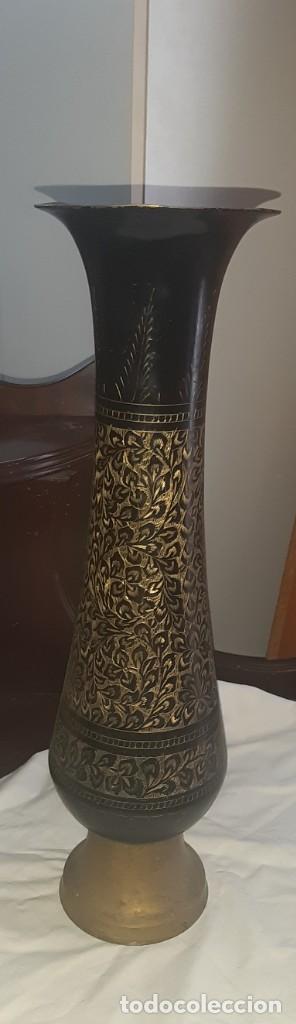 Antigüedades: jarron laton - Foto 2 - 223407638