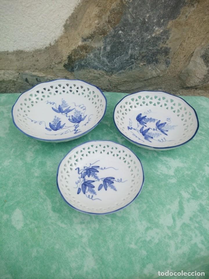 LOTE DE CUENCOS DE PORCELANA CALADA GROUP BARE PRESTIGE MADE IN CHINA,PINTADOS A MANO (Antigüedades - Porcelanas y Cerámicas - China)