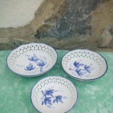 Antigüedades: LOTE DE CUENCOS DE PORCELANA CALADA GROUP BARE PRESTIGE MADE IN CHINA,PINTADOS A MANO. Lote 223423637