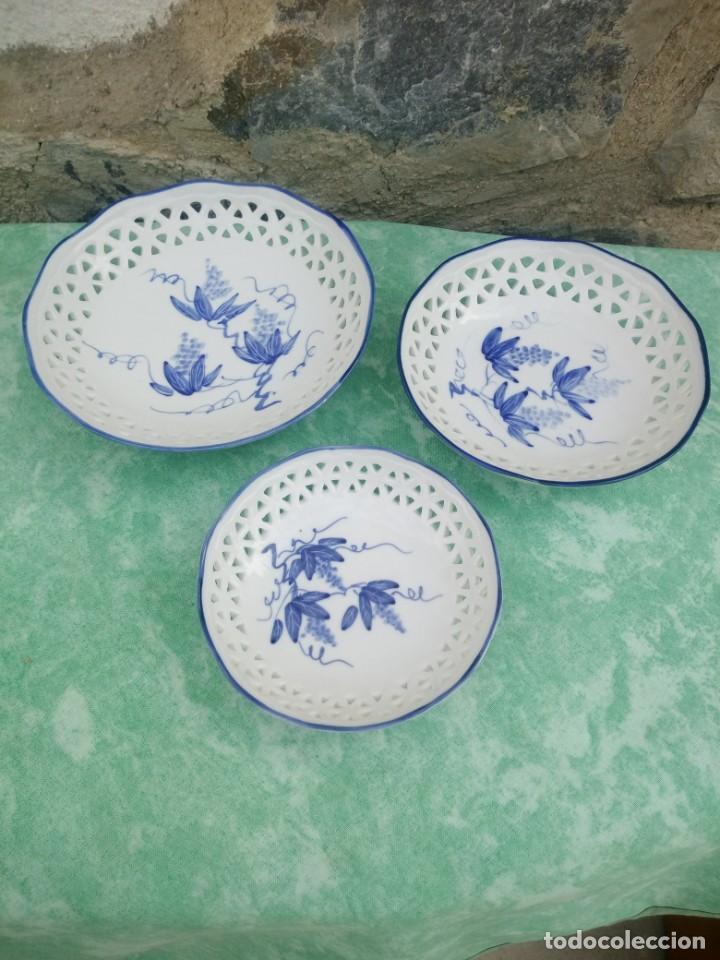 Antigüedades: Lote de cuencos de porcelana calada group bare prestige made in china,pintados a mano - Foto 2 - 223423637