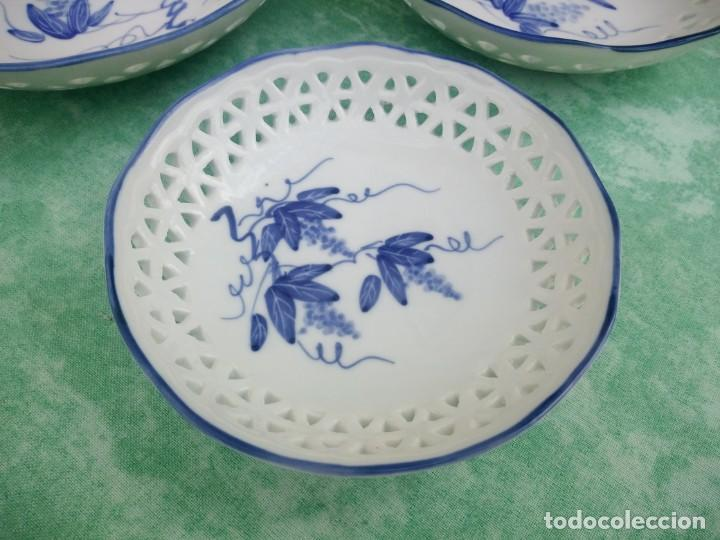 Antigüedades: Lote de cuencos de porcelana calada group bare prestige made in china,pintados a mano - Foto 4 - 223423637