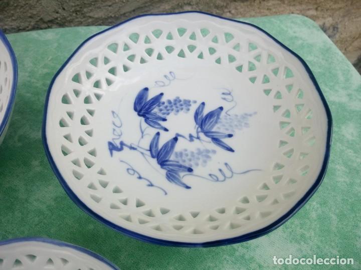 Antigüedades: Lote de cuencos de porcelana calada group bare prestige made in china,pintados a mano - Foto 5 - 223423637