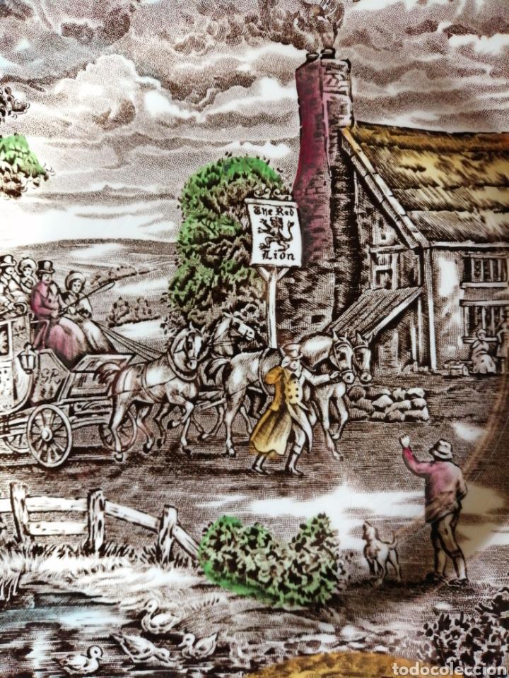 Antigüedades: Plato en porcelana England - Foto 4 - 223461431