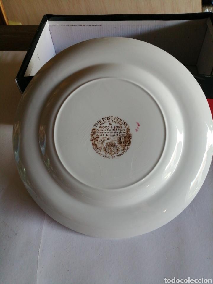 Antigüedades: Plato en porcelana England - Foto 5 - 223461431