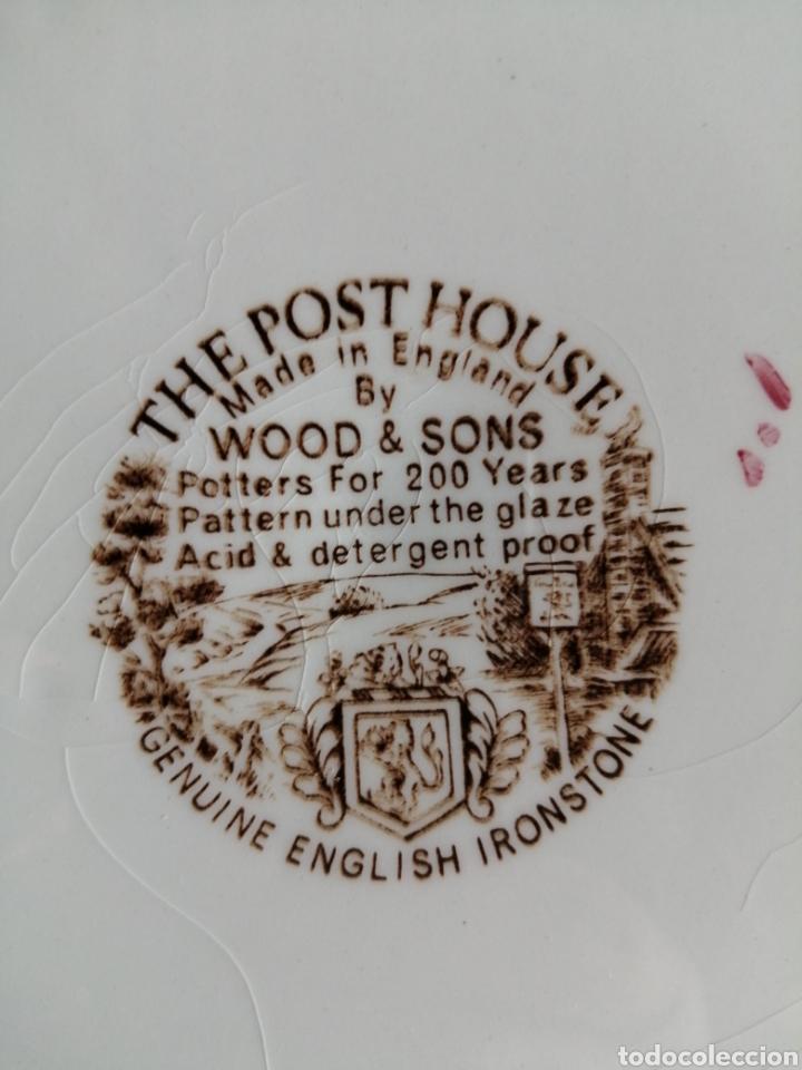 Antigüedades: Plato en porcelana England - Foto 6 - 223461431