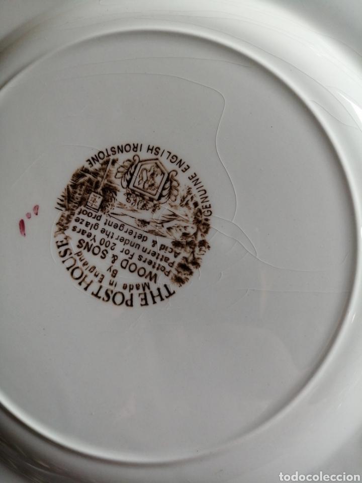 Antigüedades: Plato en porcelana England - Foto 7 - 223461431