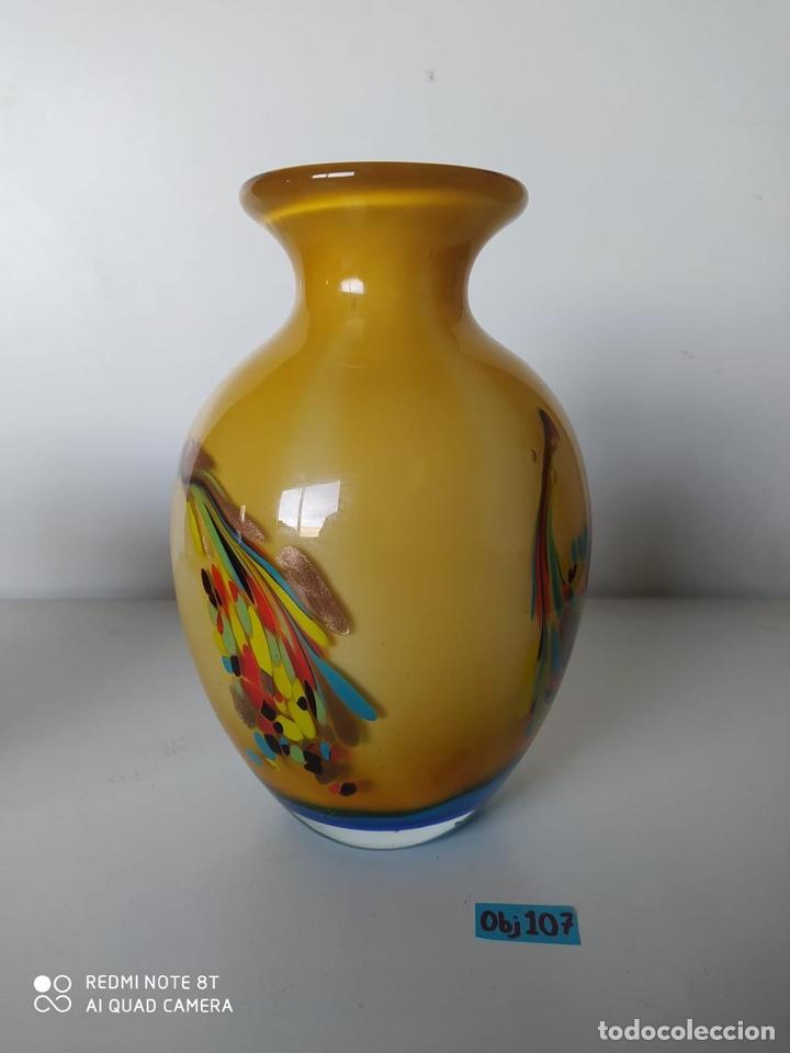 Antigüedades: Impresionante jarrón de Murano italiano muy pesado - Foto 5 - 223462907