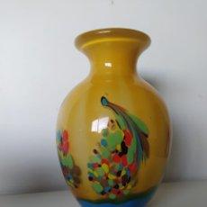 Antigüedades: IMPRESIONANTE JARRÓN DE MURANO ITALIANO MUY PESADO. Lote 223462907