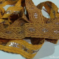 Antiquités: GALON HILO METALICO DE ORO Y PLATA. Lote 223465277