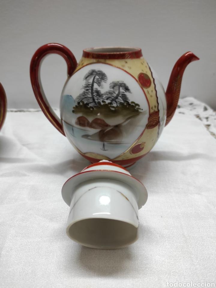 Antigüedades: Juego café o té japonés oriental de cáscara de huevo - Foto 3 - 223478182