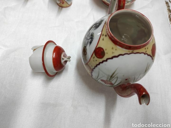 Antigüedades: Juego café o té japonés oriental de cáscara de huevo - Foto 4 - 223478182