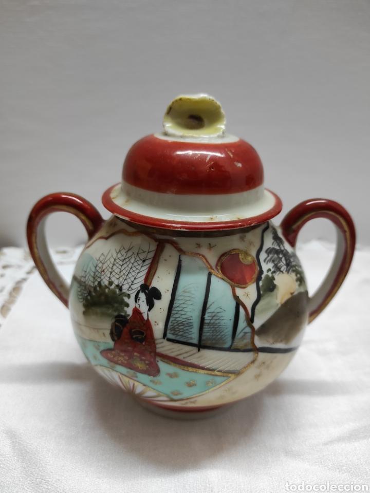 Antigüedades: Juego café o té japonés oriental de cáscara de huevo - Foto 5 - 223478182