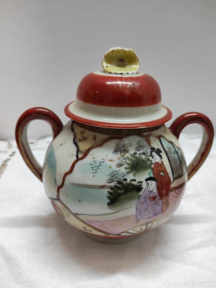 Antigüedades: Juego café o té japonés oriental de cáscara de huevo - Foto 6 - 223478182