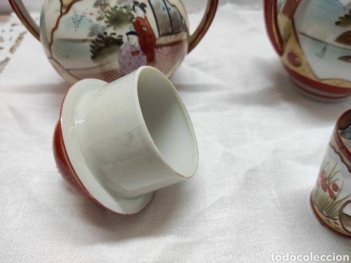Antigüedades: Juego café o té japonés oriental de cáscara de huevo - Foto 7 - 223478182