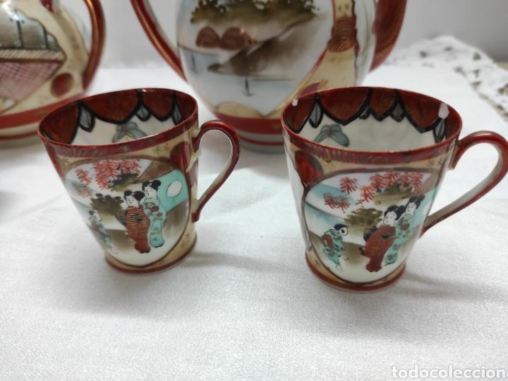 Antigüedades: Juego café o té japonés oriental de cáscara de huevo - Foto 8 - 223478182